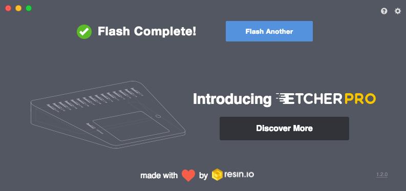 openHABian mit Hilfe von Etcher auf SD Karte flashen