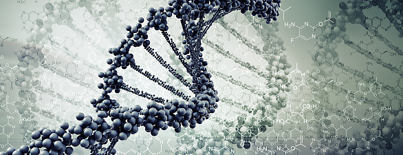Digital Illustration of DNA