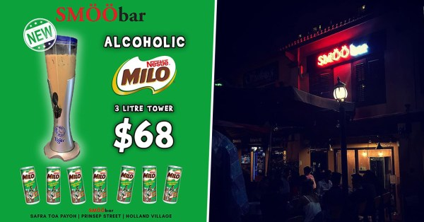 SMÖÖbar Now Has A 3L Alcoholic Milo Tower For A Grown-Up Version Of Your Favourite Childhood Drink