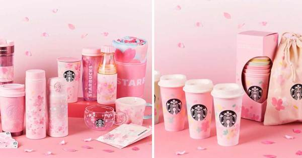 Starbucks Japan Has Pink Sakura-Themed Merchandise Including Reusable Tumblers And Even A Picnic Mat