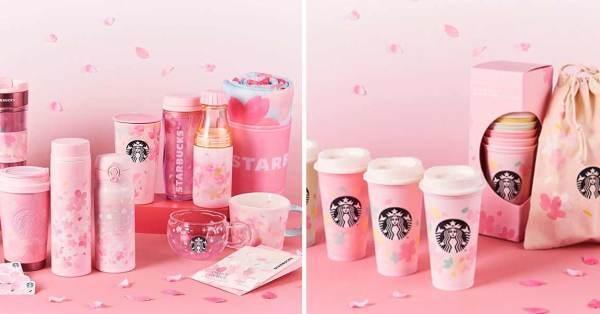 Starbucks Japan Has Pink Sakura-Themed Merchandise Including Reusable Tumblers And Even A Picnic Mat