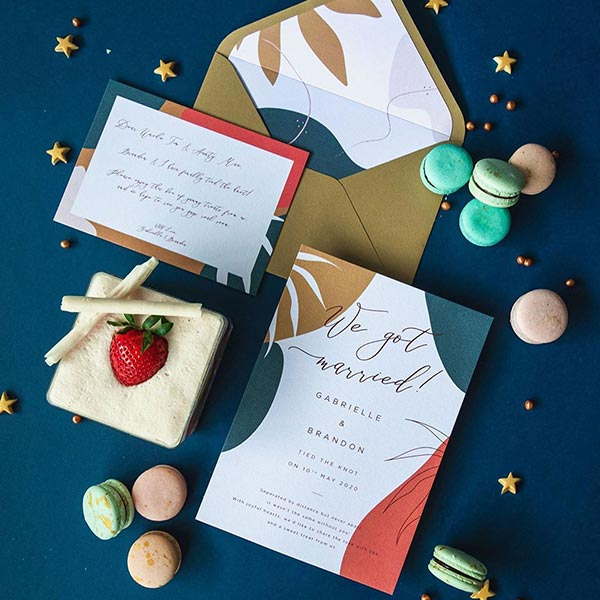 Papypress wedding announcement packages fresh fruit lab