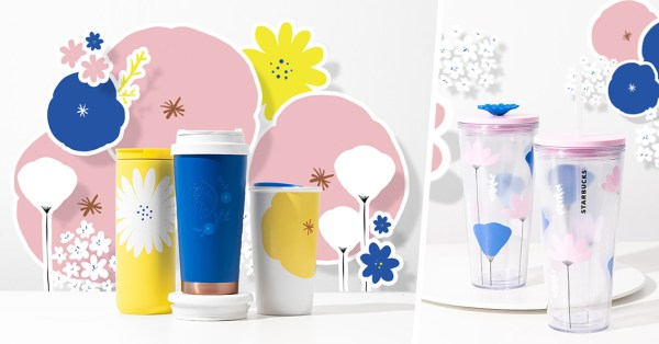Starbucks' Flower Tumblers Are Here To Bring Nature Into Your Home