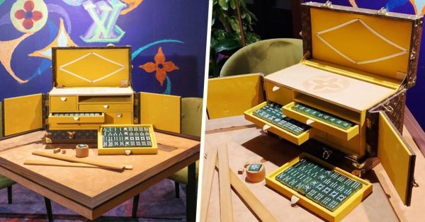 Louis Vuitton Has A Monogram Mahjong Set With Jade Tiles To Flex At Your Next Family Gathering