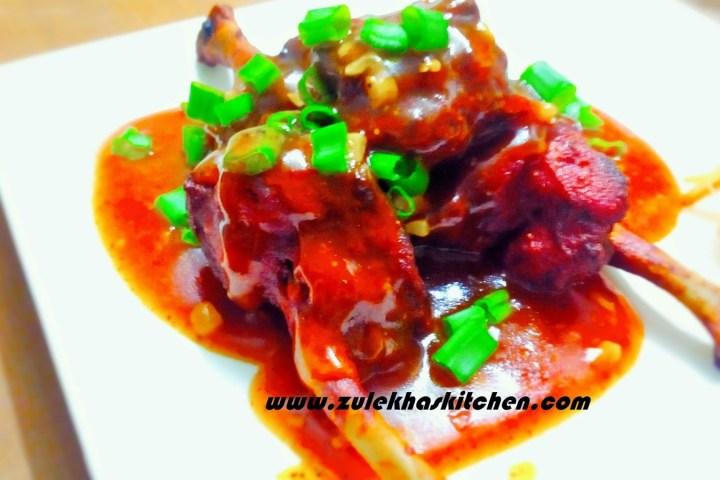 Recipe of chicken lollipop with gravy