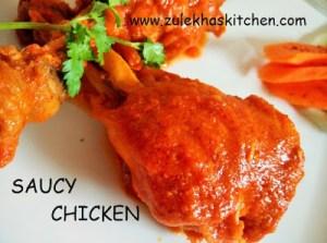 red sauce chicken