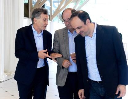 Macri con Sanz y Corral