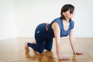 Manuela Yoga Übung Katze