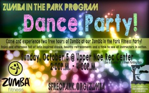 Zumba fitness party flyer