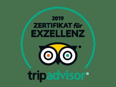 Zertifikat für Exzellenz TripAdvor