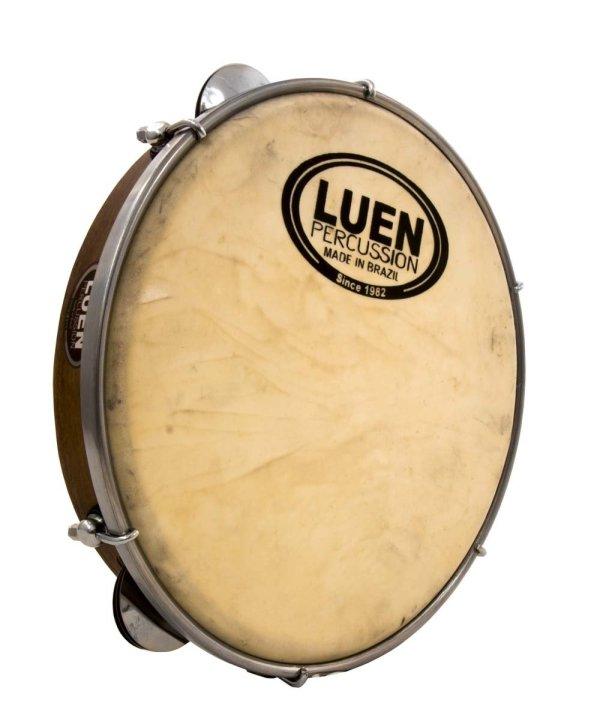 "Professional Tunable Walnut Wood & Leather 10"" Pandeiro by LUEN - ZumZum Capoeira Shop"