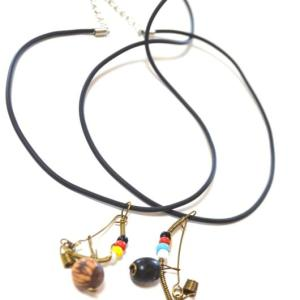 Handmade Berimabu Necklace with Rubber Chain - ZumZum Capoeira Shop
