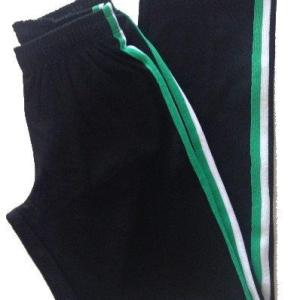 Capoeira Training Pants - Narrow Leg - Black-Wite-Green - Unisex and Kids - ZumZum Capoeira Shop