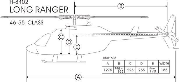 Fuselage Long Jet Ranger FUNKEY Classe 600