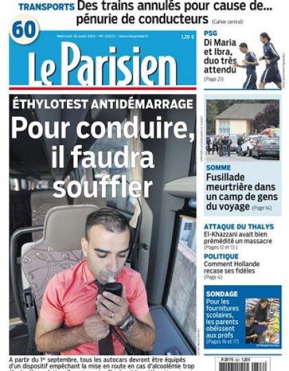 Le Parisien + Journal De Paris Du Mercredi 26 Août 2015