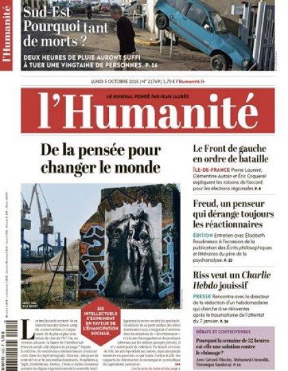 L'Humanité Du Lundi 05 Octobre 2015