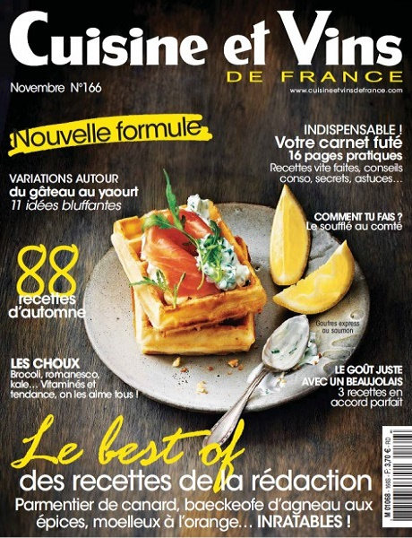 Cuisine et vins de france n 166 novembre 2015 my free for Abonnement cuisine et vins de france
