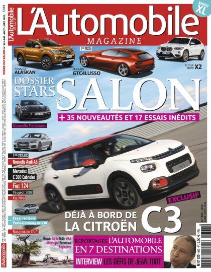L'Automobile magazine N°844 - Aout 2016
