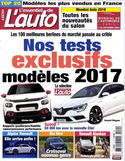 L'Essentiel de l'Auto N°110 - Septembre/Novembre 2016