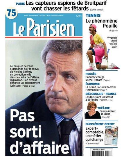 Le Parisien + Journal de Paris + cahier spécial du mardi 06 septembre 2016