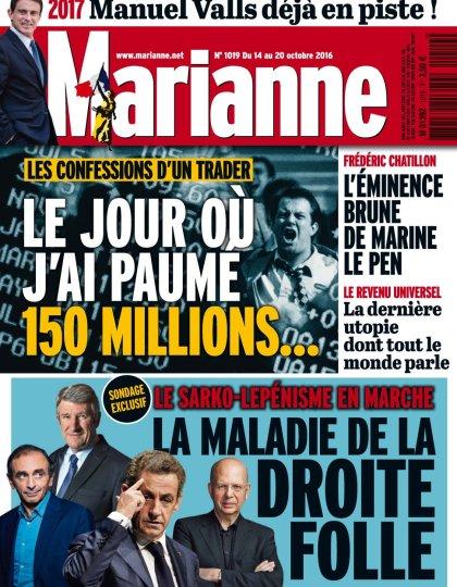 Marianne N°1019 - 14 au 20 Octobre 2016