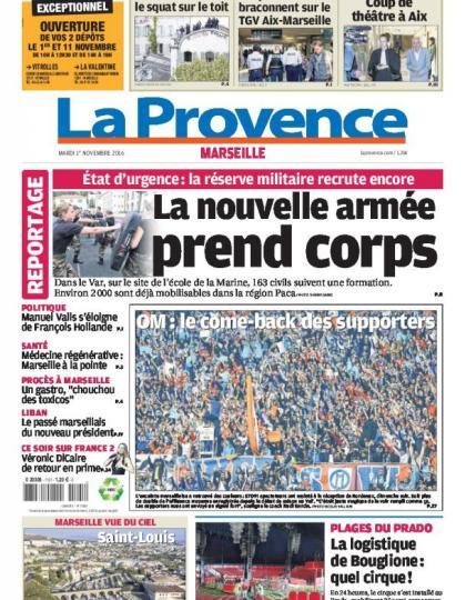 La Provence Marseille du mardi 01 novembre 2016
