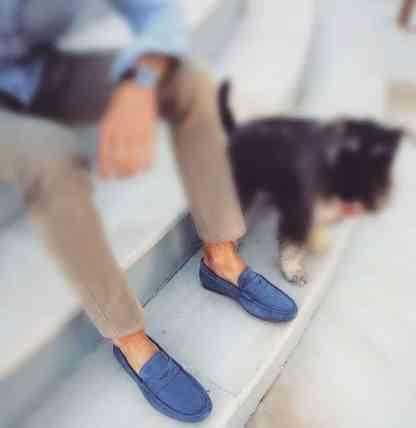 mocasines zurbagos ante azul