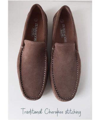 moasin taupe hombre