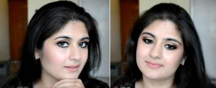 How to apply makeup - Chic bronze and purple eye makeup 01