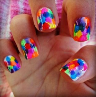 Simple nail art designs 49