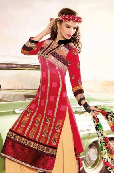 Hairstyles to wear with Pakistani salwar kameez 05