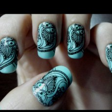 Nail art designs inspired by Indian motifs 07