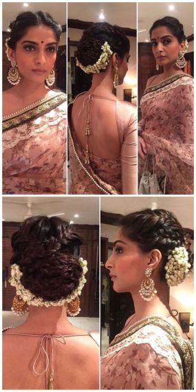 Indian bridal hairstyles 136