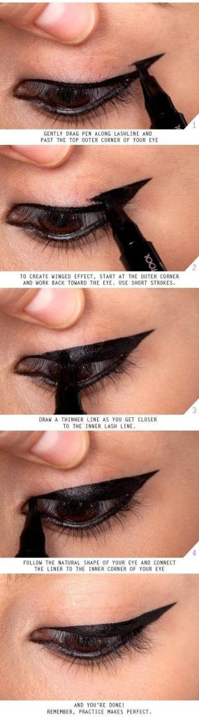 How to apply liquid eyeliner 15