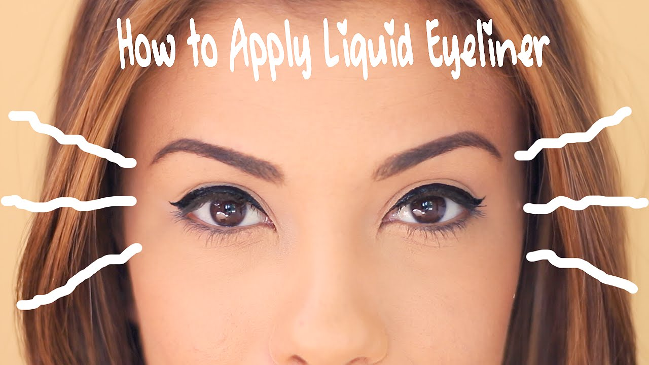 How To Apply Liquid Eyeliner For Beginners - Indian Makeup and