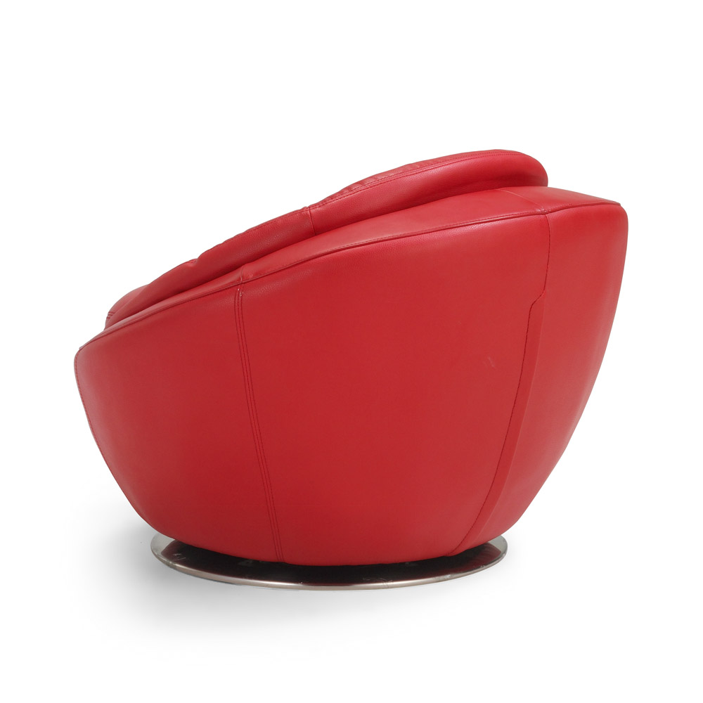 Red Leather Swivel Chair Heidi Swivel Chair Red