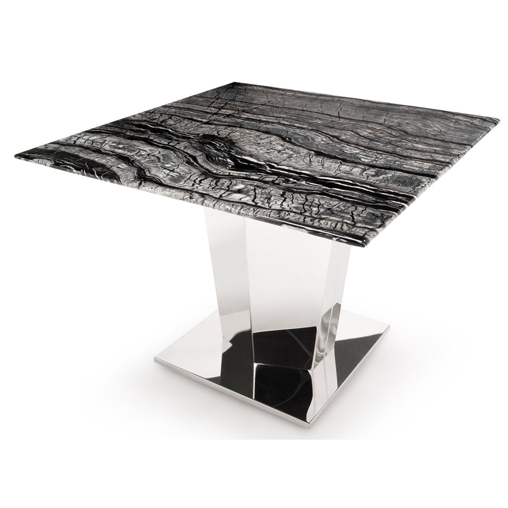 Black And White Marble Brushed Stainless Steel Sirah End