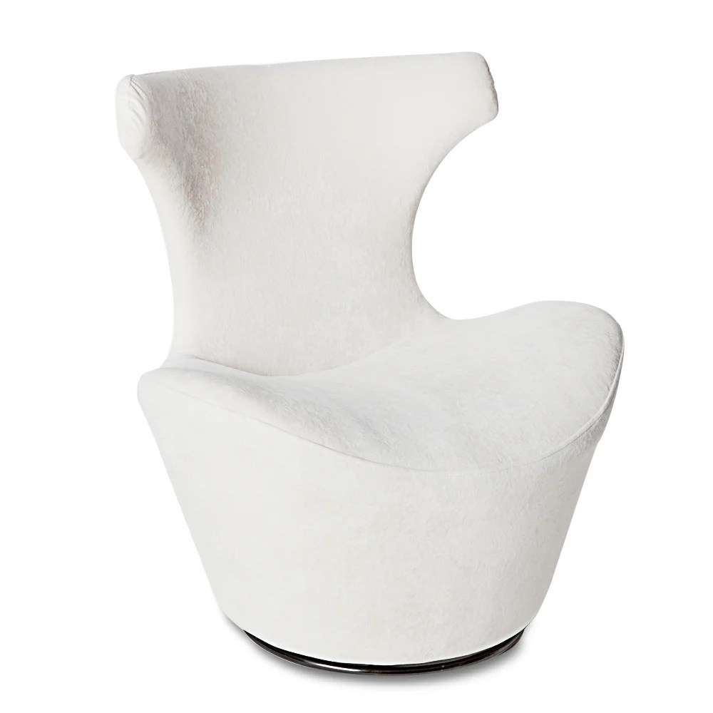 Eggshell Chair Wedge Swivel Chair