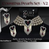 Countess Pearls Set V2-Mocha-Mauve