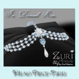 Ice Diamond Rose Tikki Head Piece-Zuri Rayna