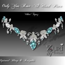 Only You Rose V2 Head Piece White-Topaz