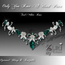 Only You Rose -V2 Teal-White Rose