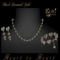 Zuri Rayna~ Heart to Heart Black Diamond_GoldPIC