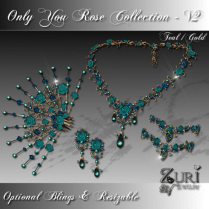 Zuri Rayna- Only You Rose Collection V2 Teal_GoldPIC