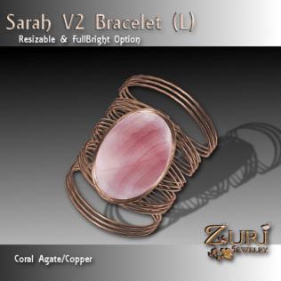 Sarah V2 Bracelet (L) Coral-Copper
