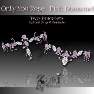 Only You Rose Bracelets - Pink Diamond