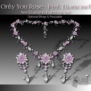 Only You Rose Pink Diamond Set