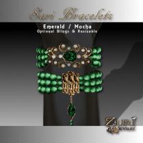 Sari Bracelets - Emerald-Mocha