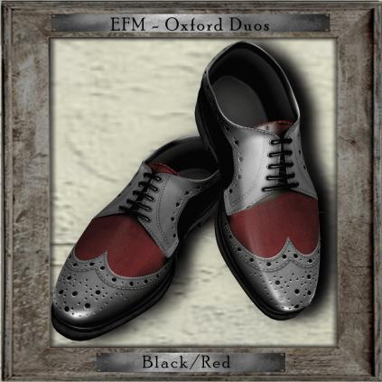 EFM-Oxford Duos - Black - Red