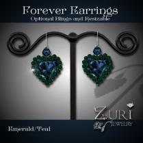 Forever Earrings Emerald-Teal